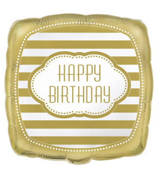 "Кульки фольг з малюнк. ""Happy Birthday""квадрат 44,4см (2,5г) 49597 Unigue"