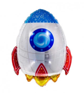 Кульки фігур. Ракета(4п)50*47 фольга 99308 Китай