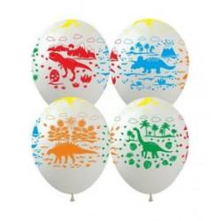 Повітряні кульки поштучно Динозаври