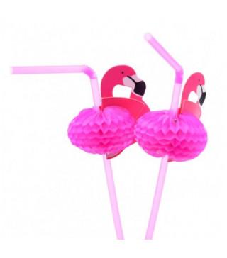 Трубочки для коктейля Фламинго 6шт / уп