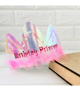 Корона Тиара-Birthday Princess пластмаса, тканина 90065 Польща