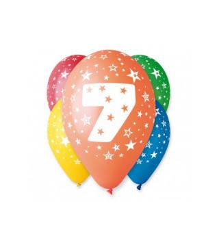 "Кульки пастель 12"" Цифри асорті 100шт/уп GS110 /92 11945 Gemar"