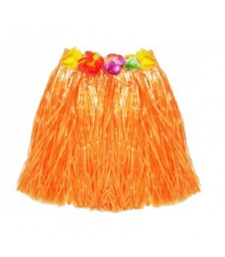 Юбка гавайская оранжевая, 50 см