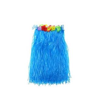 Юбка гавайская синяя, 50 см