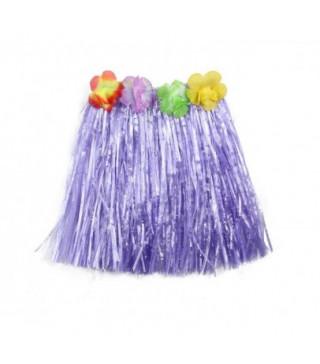Юбка гавайская фиолетовая, 50 см