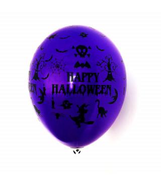 "Кульки поштучно з малюн. ""Happy Halloween"" 1шт латекс Ш-10007"