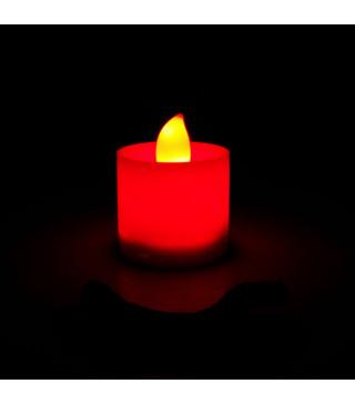 Свечи классические на батарейках красные