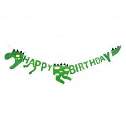"""Декорація Гірлянда Динозавр""""Happy Birthday """" папір 5524 Китай"""