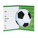 Запрошення листівка Футбольний мяч 1шт, папір 27314 Unigue