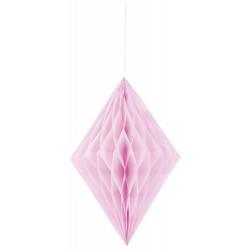 Бумажный ромб розовый