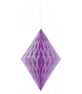 Бумажный ромб фиолетовый