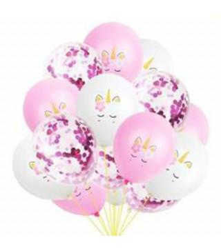"""Набір кульок Єдиноріг"""" 15 шт./уп. латекс 81401 Китай"""