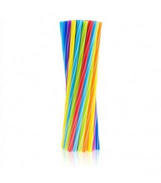 Трубочки для коктейля цветные 25шт/уп