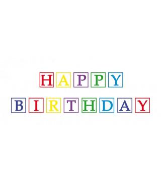 """Декорація Гірлянда """"Happy Birthday """" 3,6 папір 90438"""