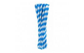 Трубочки для коктелю в синю-білу полоску 25шт/уп. папір 49891 Китай