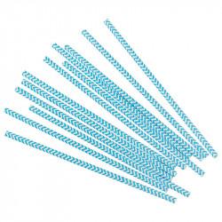 Трубочки для коктелю білі в блакитний зігзаг  25шт/уп. папір 49890 Китай