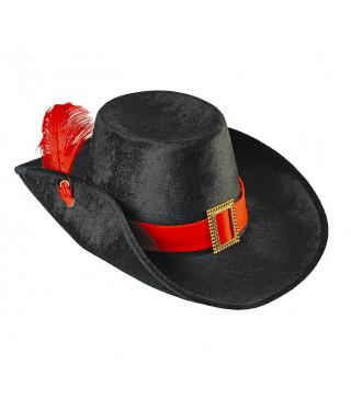 Капелюхи,шапки Капелюх Мушкетера з червоною лентою фетр 21084 Godan