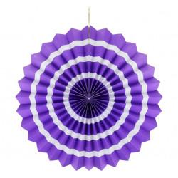 Декорація Паперова розетка фіолет. білий пасок 40см папір 62606 Godan