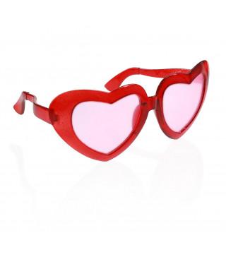 """Окуляри """"Серце червоне"""" гіганти пластик 10412 Польща"""