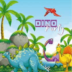 Серветки Динозаври 20 шт/уп. папір F-151548