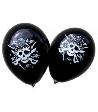 Кулька кругла 12 Чорні з Піратами 100шт/уп