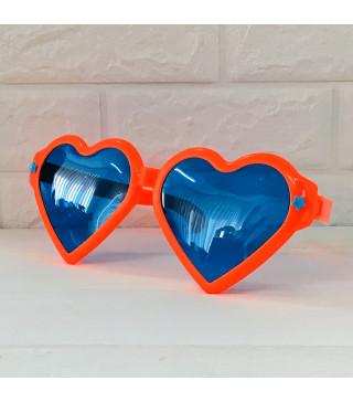 Окуляри Гіганти серце Оранжеве пласмаса 1063 Китай