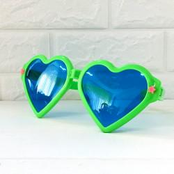 Окуляри Гиганти серце Зелені пласмаса 1090 Китай