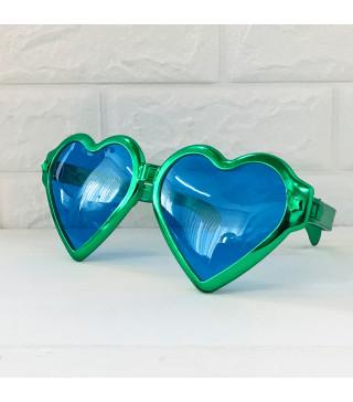 Окуляри Гіганти Сердце Зелені металік пласмаса 10914 Китай