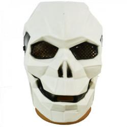 Маска Киборг-череп біла пластик 14050 Китай