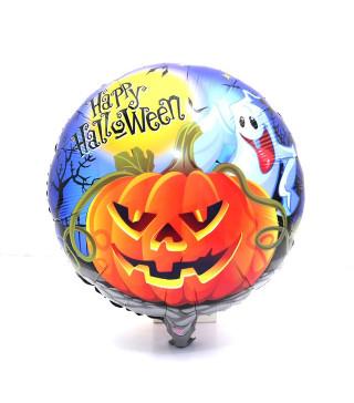 Кульки фольг з малюнк. Гарбуз з привидами хелловін 215265 Китай