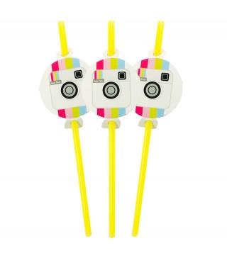 Трубочки для коктелю Insta Party 6 шт/уп. пластик папір F-9035651