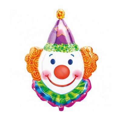 Кулька фольгована фігурна Клоун