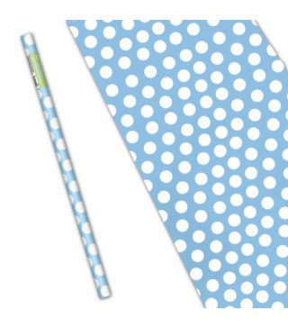 Папір подарунковий Блакитний горох
