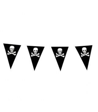 Гирлянда-флажки Череп пирата