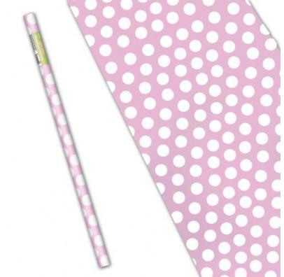 Бумага подарочная Светло-розовый горох