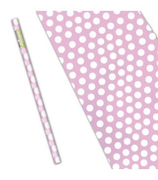 Папір подарунковий Світло-рожевий горох