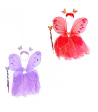 Крила Набір Феї Червоний/ фіолетовий 16171 Китай