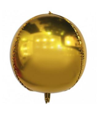 Шарик фольгированный Сфера золотая