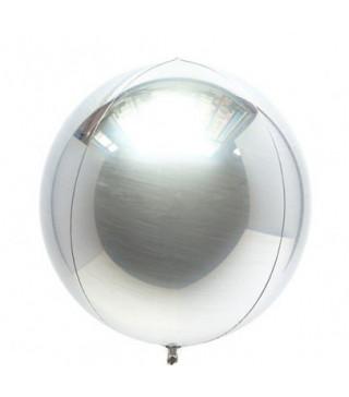 Шарик фольгированный Сфера серебрянная