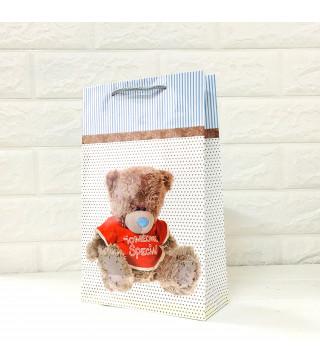 Подарунковий пакет Ведмедик17*26см папір,плівка 29061 Україна