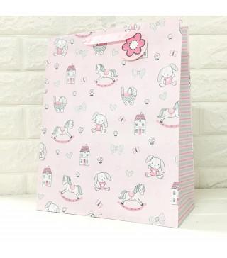 Подарунковий пакет Дитячий з тисненням 32*26*13см папір,плівка 18208 Гулівер