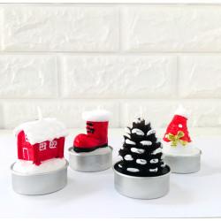 Свічка в торт з фігурками Новорічні парафін 1025 Китай