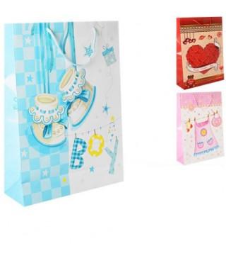 Подарунковий пакет Baby 44*32*12.5cм папір,плівка 08652 Гулівер