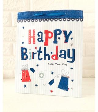Подарунковий пакет Happy Birthday To you32*26*10cм 15701 Китай