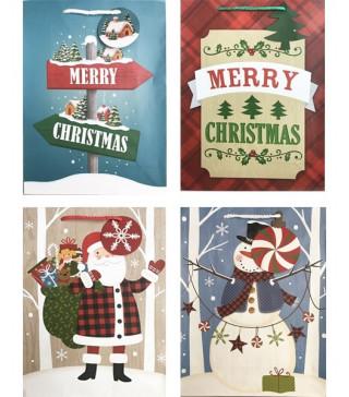 Подарунковий пакет Merry мікс 14.5*11.5*6cм папір,плівка 07616 Гулівер