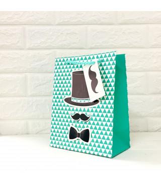 Подарунковий пакет Джентельмен 42*32*11,5см картон 280676 Гулівер