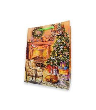 Подарунковий пакет Святковий вечір 42*32*10см папір,плівка 291285 Гулівер