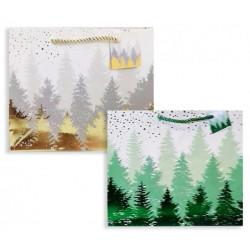 Подарунковий пакет Ялинка 2 кольори 18*23*14см картон 291422 Гулівер