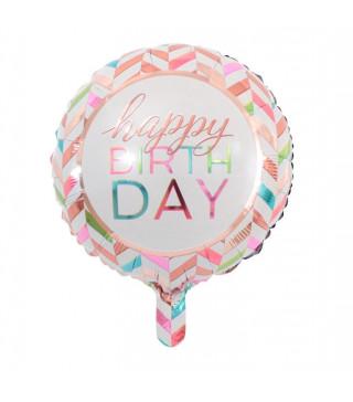 "Кульки фольг з малюнк. 18"" Happy Birthday DAY фольга 215154 Китай"