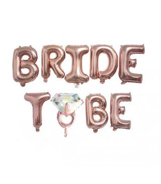 Шарики Bride to be розовое золото
